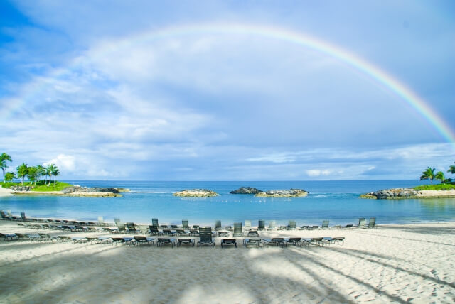 ハワイにかかる虹