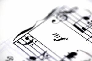 楽譜の冒頭
