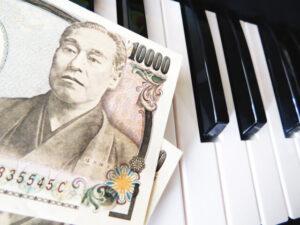 鍵盤上のお金