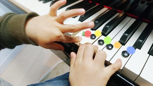 鍵盤と幼児の手